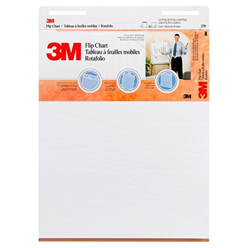 3M Flip Chart, 25 x 30-Inches, White, 40-Sheets/Pad by 3M (Image #1)