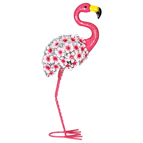 Exhart Solar Pink Flamingo w/ 26 Flower Blooms LED for sale  Delivered anywhere in USA