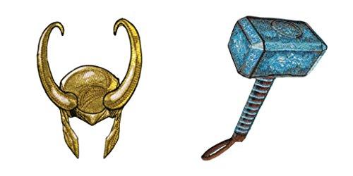 Athena Loki Helmet and Thor Hammer 3