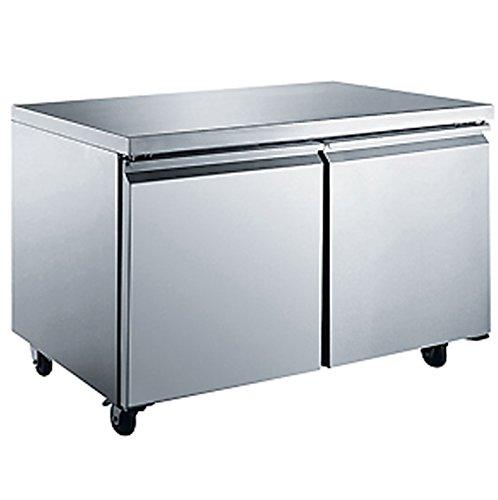 Refrigerator Undercounter Silver (NSF 60in Freezer Refrigerator Under Counter Worktop Undercounter Under-Counter RESTAURANT EQUIPMENT)