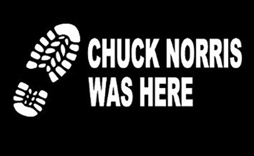 Keen Chuck Norris was Here Decals Vinyl Stickers(Two Pack!!!!|Cars Trucks Walls Laptop|White|2-5.5 in Decals|KCD486 - Keen Laptop Bag