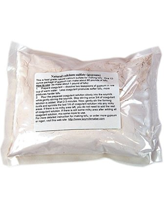 Gypsum Tofu Coagulant- 12 Oz. - Chinese Terra Alba - Calcium Sulfate Powder - Food Grade