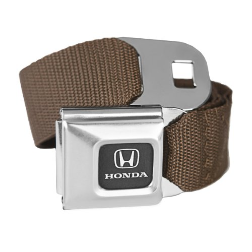 Price comparison product image Brown Honda Seatbelt Buckle Fashion Belt - Officially Licensed