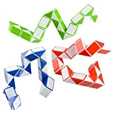 Sensory Fidget Toy For Adhd, Autism Brain Teaser Puzzles For Adults and Children - Set of 3 Puzzle Snake Cubes Twist Magic Puzzle Snake - Twisty Puzzle Toy - Great Fidget Toy, Party Favor