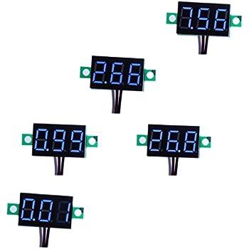Wondrous Smakn 3 Digits 0 56 3 Wire Dc 0 100V Blue Led Digital Voltmeter Wiring 101 Ferenstreekradiomeanderfmnl