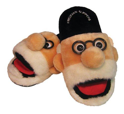 Sigmund Freud Freudian Plush Slippers | M