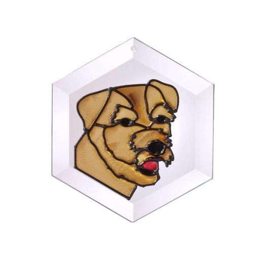 (Norfolk Terrier Painted Glass Suncatcher (Ew-199))