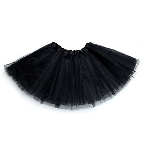 Anleolife 12'' Ballet Tutu Dress Cheap Birthday Tutu Skirt (black)