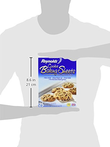 Reynolds Cookie Baking Sheets Non-Stick Parchment Paper, 25 Sheet, 4 Count by Reynolds (Image #6)