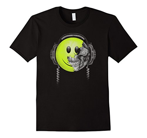 [Men's Rock & Roll T Shirts - Techno Acid House EDM Drum and Bass  XL Black] (70s Era Clothing)