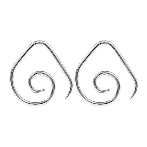 BIG GAUGES Pair of Surgical Steel 12g Gauge 2mm Taper Expander Ear Wire Spiral Piercing Jewelry Earring Piercing Stretching BG0917 (12 Gauge Ear)