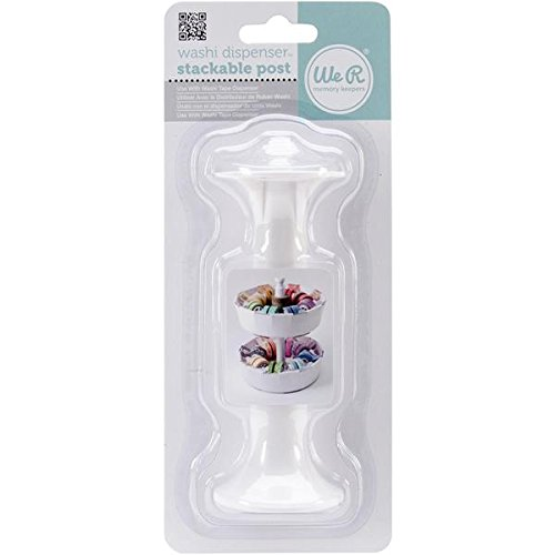 (We R Memory Keepers 71148 Washi Tape Dispenser Stackable Post, 4.5-Inch)