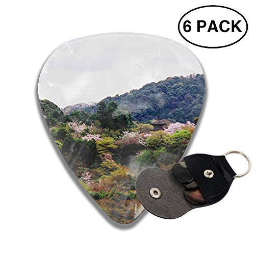 - Celluloid Guitar Picks 3D Printed Landscape Kiyomizu-Dera Blossom Temple Kyoto Japan Forest Best Guitar Bass Gift For Student