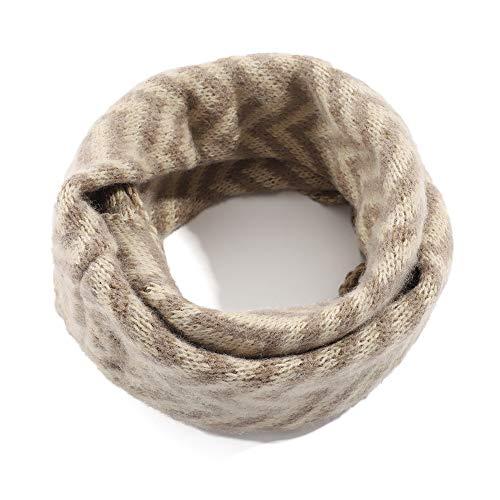Kids Winter Warm Knit Scarf Toddler Boys Soft Infinity Scarf Khaki