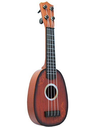 Kids Children 4 String Mini Acoustic Guitar Instrument Development Music Toy New (Brown 1#)