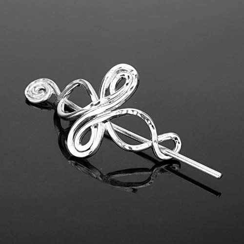 Celtics Hair Clips for women, Viking Hair Sticks Ladies Hair Accessories Triangle Clips for Long Hair Slide Pin Irish Antique Silver Celtics Knot Viking Jewelry Hair Clip(#0089)