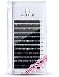 LANKIZ Eyelash Extensions, 0.15mm C Curl Mixed Tray, Faux Mink Individual Lash Extensions 8mm   9mm   10mm   11mm   12mm   13mm   14mm   15mm  Mix  