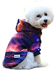 Eono Novelty 3D Print Starry Sky Basic Dog Hoodie Polyester Pet Sweatshirt for Small Medium Large Dogs and Cats Suitable for All Seasons