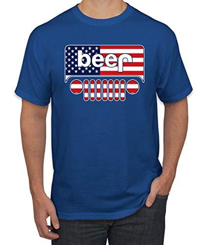 Wild Bobby Beer Logo | Cars and Trucks Parody Humor Alcohol | Mens Drinking Tee Graphic T-Shirt, Royal USA, 4XL ()