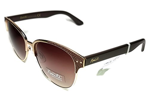 Nanette by Nanette Lepore Women's Nn132 Gldbr Cateye Sunglasses, Gold/ Brown, 55 - By Lepore Sunglasses Nanette