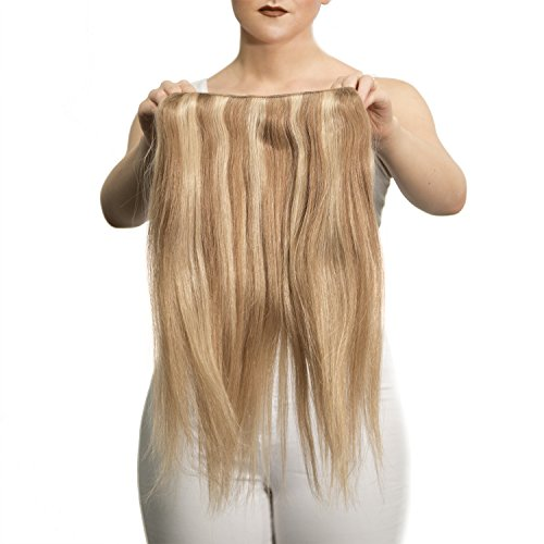 "Price comparison product image Sono 1 Count 155 g 18"" Solo Straight Sono 1 Count 100% Human Hair Extensions, #12/600 Light Ash & Blonde"