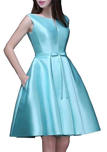 Buy light blue a line prom dress - 7