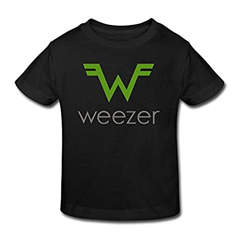 SHUA BABY Kid's Toddler Weezer Logo T-Shirt Age 2-6 Black 3 Toddler (Ncis La Stuff)