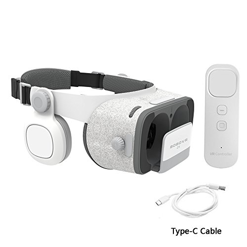 BOBOVR Z5 Daydream View 3D VR Headset with Gyroscope Remote Controller for Daydream Smartphones Samsung Galaxy S8/S8+/Note8 Google Pixel 2