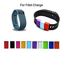 C-Mall Multicolour Replacement Silicone Fastener Ring for Fitbit Fitbit Charge and Charge HR Wireless Activity Bracelet Sport Wristband