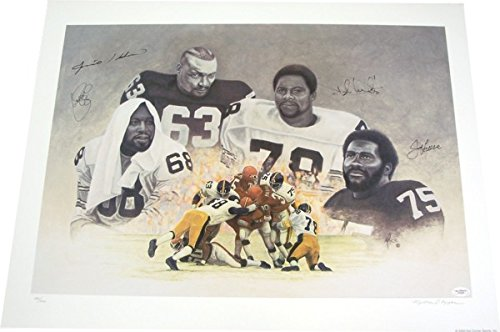 Steel Curtain Autographed Pittsburgh Steelers Lithograph - JSA COA