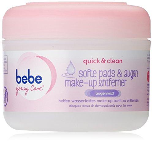 BeBe Young Care quick und clean softe Pads und Augen Make-up Entferner, 3er Pack (3 x 30Stück)