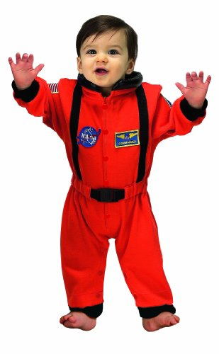 Aeromax Jr. Astronaut Suit with NASA patches and diaper snaps, ORANGE, Size 6/12 Months (Halloween Costumes For Babies)
