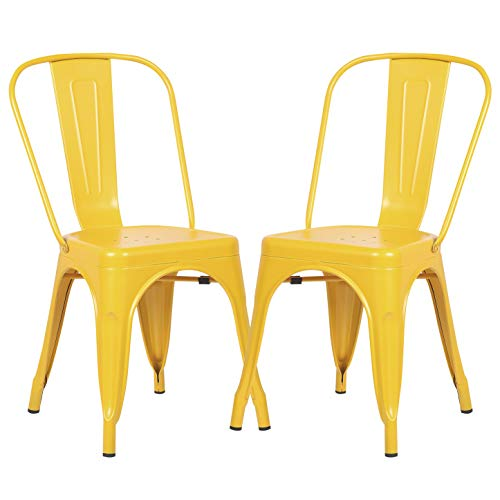 Poly and Bark Trattoria Side Chair in Yellow (Set of 2)