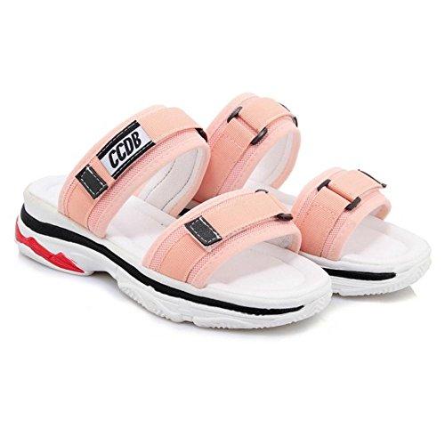Back Fashion Open Pink Women Sandals Summer TAOFFEN xB8XA8