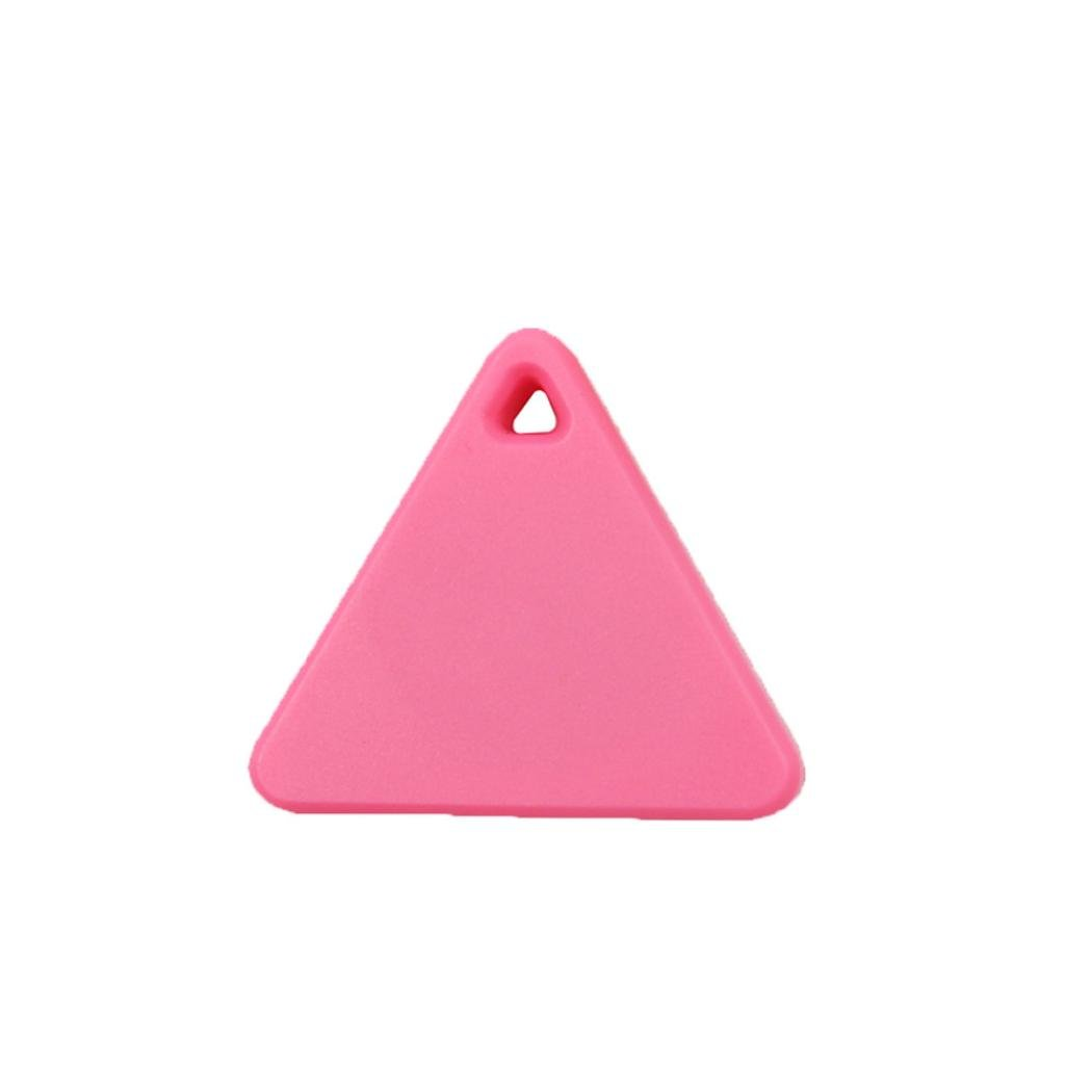 Clearance ! ღ Ninasill ღ Exclusive Bluetooth Smart Mini Tag Tracker Pet Child Wallet Key Finder GPS Locator Alarm (Pink)