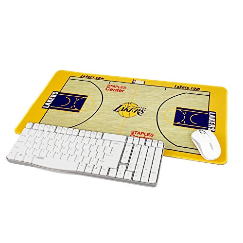"""TRIPRO Basketball Arena Design Large Gaming Mouse Pad XXL Extended Mat Desk Pad Mousepad,Size 23.6""""x11.8"""",Water-Resistant,Non-Slip Base,for NBA Fans Gifts (Lakers)"""