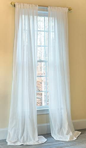 Manor Luxe Emily Sheer Rod Pocket Window Curtain,Single Panel