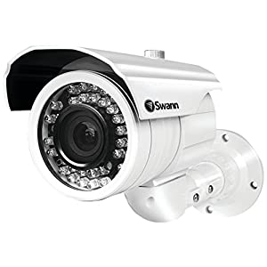 Swann SWPRO-980CAM-US Ultimate Optical Zoom Security Camera, Night Vision 131' (White) from Swann