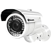 Swann SWPRO-980CAM-US Ultimate Optical Zoom Security Camera, Night Vision 131 (White)