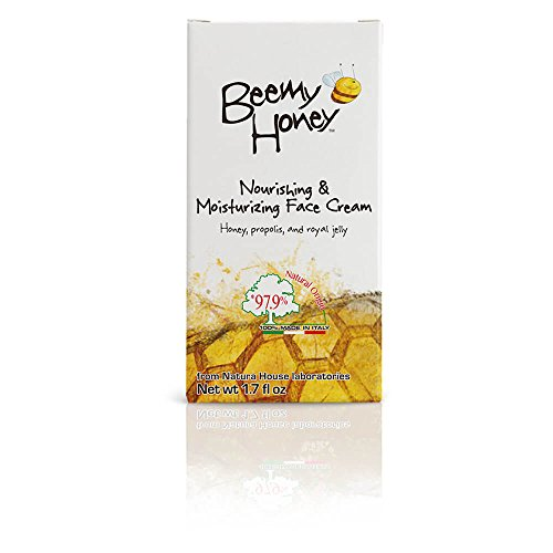BeeMy Honey Nourishing Moisturizing Face Cream, Natural Light Scent - Made in Italy with Italian Honey, Propolis, and Royal Jelly - 97.9% Natural Origin - Hypoallergenic, Dermatologist Tested, 1.7 oz.