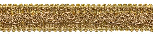 Two Tone Gold Baroque Collection Gimp Braid 1-1/4
