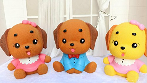 Gift Puppy Piggy Lovely Blue Brown Birthday of Money Decoration Home Bank Clothes Dog Bank Dress Royare Gift 0YwqUICx5