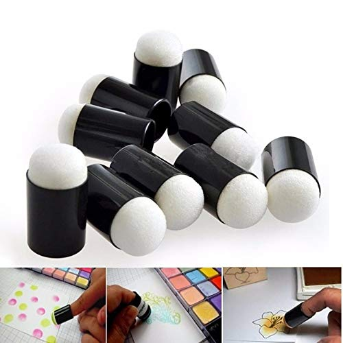 Special Education Supplies 10 PCS Finger Painting Sponge Smudge Coloring Foam Fingertips Coloring Finger Painting Tool DIY Rubber Stamp Smear Tool Special Education Supplies