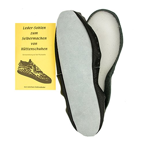 1 x Pair leather soles for Hüttenschuhe, Size 36 / 37