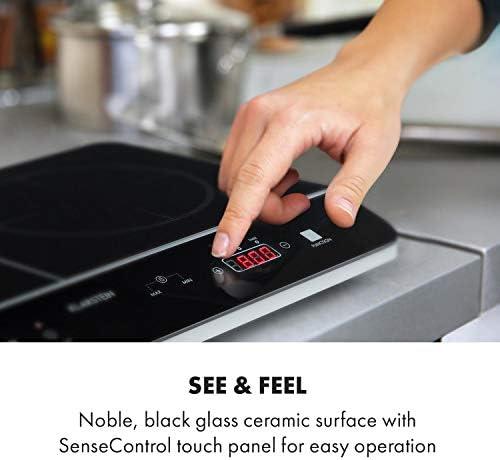 Klarstein VariCook Neo Doble placa de cocina de inducción - Cocina portátil, Vitrocerámica, 3500 W, Tecnología SenseControl, Sensor de ollas, ...