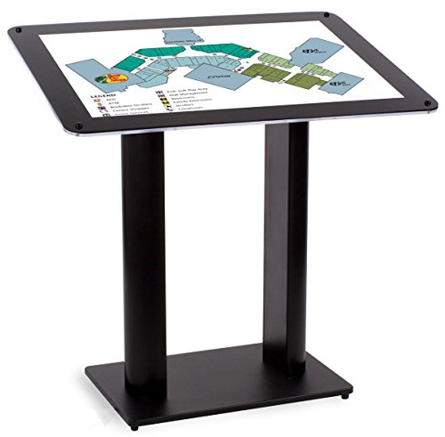 Free-Standing Directory Displays 36 x 24-Inch Graphic, 41 x 41 x 29-Inch, Black MDF Base, Acrylic Frame With Black Border, Angled Display