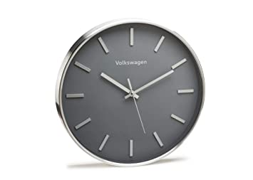 Volkswagen 33d050810 Reloj de Pared Original Reloj Esfera Carcasa de Diseño Aluminio, Gris/Plata: Amazon.es: Coche y moto