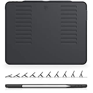 The Muse Case - 2018 iPad Pro 12.9 inch 3rd Gen (Old Model) - Very Protective But Thin + Convenient Magnetic Stand + Sleep/Wake Cover by ZUGU CASE (Black) (Model #'s A1876, A2014, A1895, A1983)