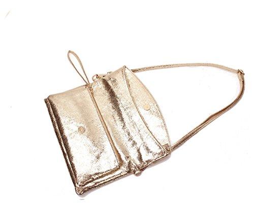Gold Y Shining Handbag Cool Soft Buckle Body Lady Cross xpq8O5w