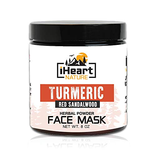- Turmeric Red Sandalwood Fenugreek Herbal Cleansing Face Mask DIY Powder (Just Add Milk) Clears Pores Brightens Skin (Natural Ayurvedic Organic Anti-Aging Indian Healing Clay Facial Mask)